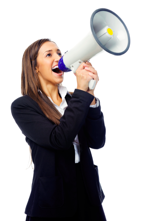 Speaking loud makes you look like a leader